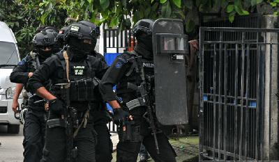 Densus 88 Nabs 3 Suspected Terrorists in Palu, Sulawesi