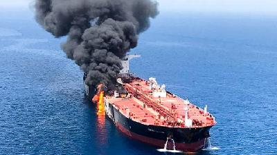 Trump Blames Iran as U.S. Seeks Support on Gulf Oil Tanker Attack