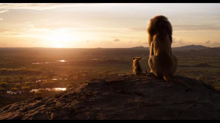 James Earl Jones dan JD McCrary dalam The Lion King (2019)