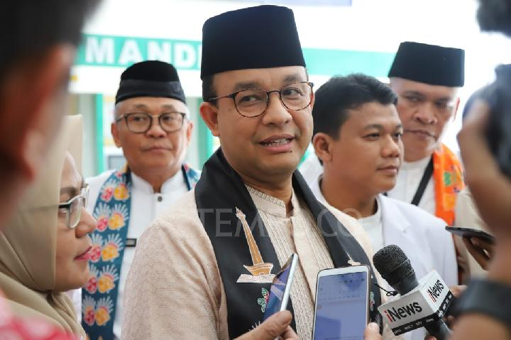 Jakarta Governor Anies Baswedan at Koja Regional General Hospital in North Jakarta, June 28, 2019. Photo: Jakarta Administration Public Relations