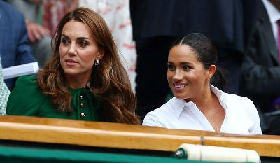 Kate Middleton-Meghan Markle Tampil Elegan di Final Wimbledon