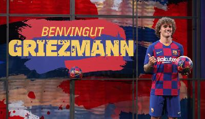 Antoine Griezmann Unveiled As Barcelona's Newest Signing