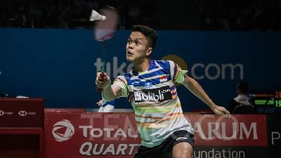Indonesia Open: Dipaksa Main 3 Game, Anthony Ginting Kalahkan Lu