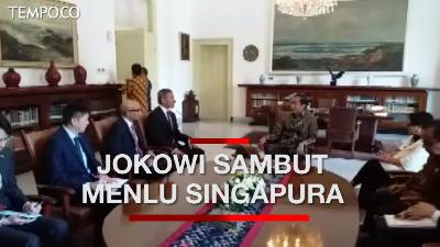 Terima Menlu Singapura, Jokowi Bahas Persiapan Leader's Retreat