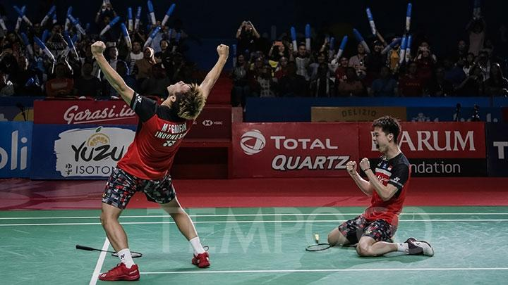 Kalahkan The Daddies, Marcus / Kevin Juarai Indonesia Open 2019
