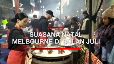 Nikmati Salju Buatan di Winter Night Market Melbourne