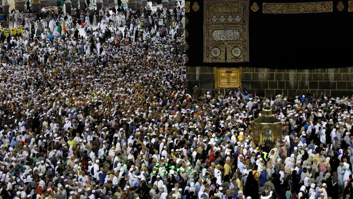 Muslim pilgrims circle the Kaaba and pray at the Grand mosque at the end of their Haj pilgrimage in the holy city of Mecca, Saudi Arabia August 13, 2019. Picture taken August 13, 2019. Saudi Arabia stakes its reputation on its guardianship of Islam's holiest sites, Mecca and Medina, and its organisation of the pilgrimage. It hopes to continue expanding attendance to help to build its tourism industry. REUTERSUmit Bektas