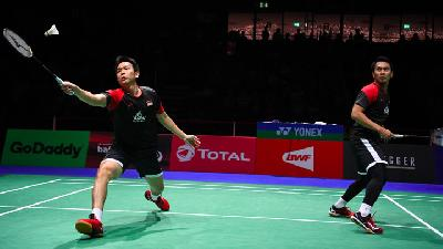 Hendra / Ahsan Susul Ginting ke Final BWF World Tour Finals 2019