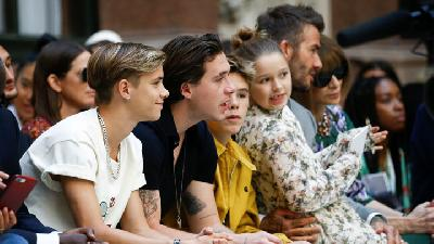 Gaya Beckham dan Anak-anaknya di London Fashion Week