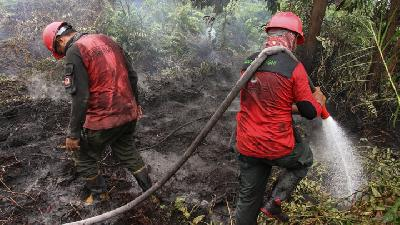 Losses from Riau Forest Fire Reach Rp50tn: Study Center