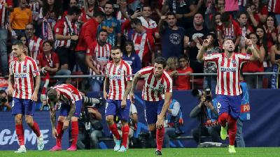 Late Herrera Header Snatches Draw for Atletico Against Juventus