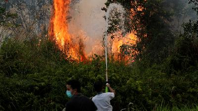 Walhi: Emissions Reduction Target Jeopardized by Forest Fires