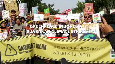 Greenpeace Indonesia Suarakan Climate Strike