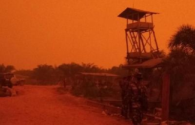 BMKG Explains Mars-Like Red Skies over Jambi