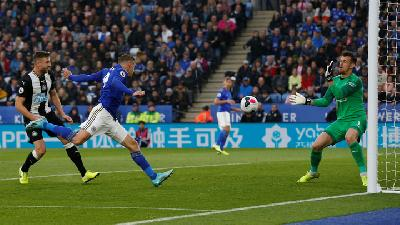 Vardy At The Double as Leicester City Thrash Newcastle United 5-0