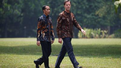 Jokowi, Dutch PM Mark Rutte Agree to Boost Economic Ties
