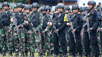 TNI to Join Security Measures in Papua Election
