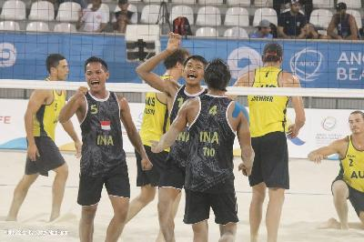 Tim Voli Pantai Indonesia Raih Perunggu World Beach Games 2019