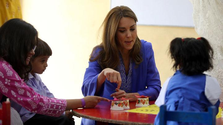 Prince William and Kate Middleton Visit Pakistan school