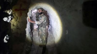 Turkey-Backed Syrian Rebels Find Network of Tunnels in Tel Abyad