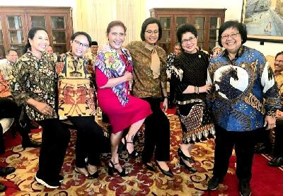 5 Female Ministers in Jokowi's New Cabinet