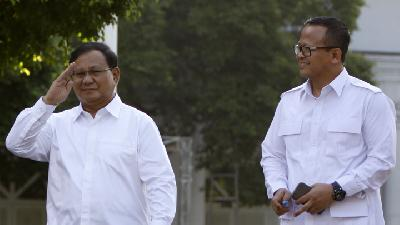 Prabowo, Edhy Visit Palace Ahead of Cabinet Announcement