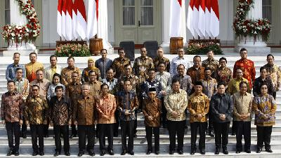 President Jokowi's New Cabinet Officially Announced