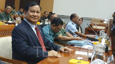 Prabowo Subianto Yet to Draw Up National Defense Plan