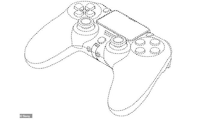 Gambar paten  pengontrol PlayStation 5 (PS5), gamepad DualShock 5. (PlayStation 5 Sony)