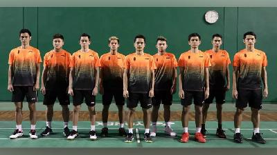 Tim Putra Badminton Indonesia vs Malaysia di Final SEA Games 2019