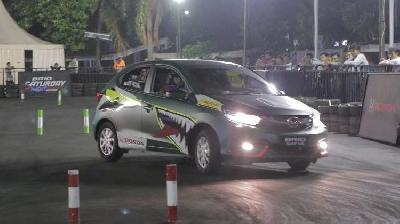 Rekor Waktu Tercepat Brio Saturday Night Challenge Pecah di Final