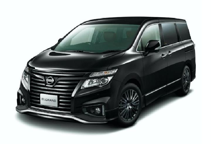 Nissan Elgrand Highway Star Jet Black Urban Chrome (Carscoops)