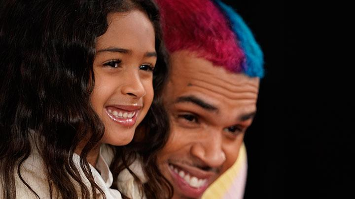Aksi Chris Brown Ajak Putrinya ke Grammy Award 2020
