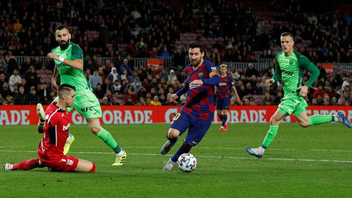 Messi on Song as Barcelona Ease into Copa Quarters