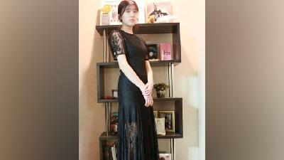Fashion Favorit Ahn Seo Hyun Feminin Chic dan Warna Hitam