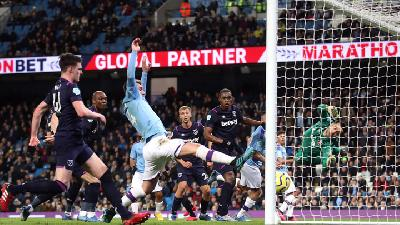 Manchester City Tekuk West Ham United 2-0