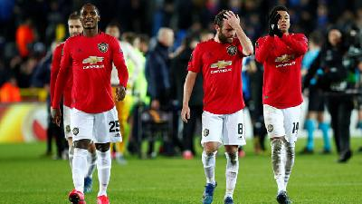 Manchester United Held 1-1 at Brugge In Europa League