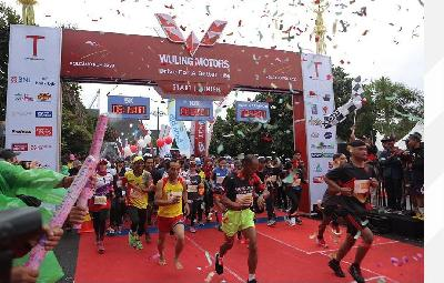 2,800 Runners Join Volcano Run 2020 in Mount Merapi Area, Sleman