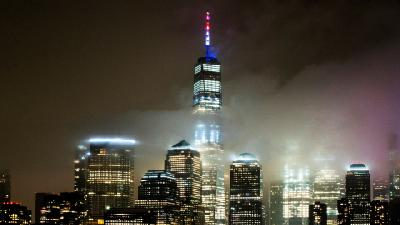 One World Trade Center Lights Up for Combat Coronavirus