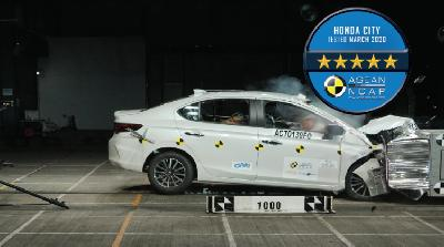All New Honda City Raih 5 Bintang Uji Tabrak ASEAN NCAP