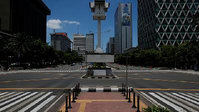 PSBB, Police Guarantees Safety in Deserted Jakarta