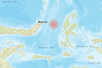 7.1M Earthquake Hit Morotai Island, North Maluku