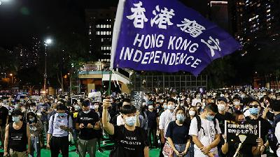 Hong Kong Protesters Call for Independence at Tiananmen Vigil