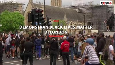 Aksi Ribuan Demonstran Black Lives Matter di London