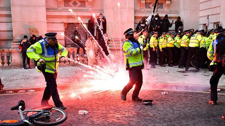 Clashes at London Black Lives Matter Protest