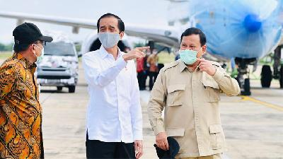 Jokowi, Prabowo Visit Location of Food Estate Project