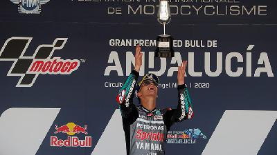 Quartararo Wins Andalusian MotoGP as Yamahas Dominate in Jerez