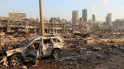 Images of the Aftermath of Massive Blast at Beirut Port