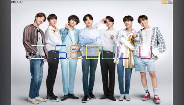 BTS promosi Seoul City TVC 2020. Foto: Youtube
