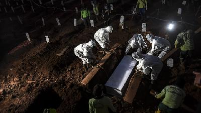Anies Baswedan: Burial under Covid-19 Protocol Increases Three-fold